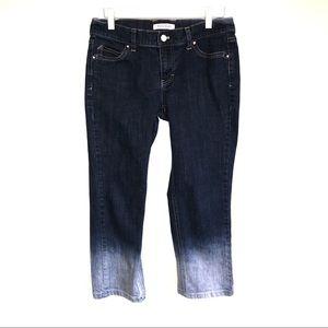 WHBM Nior Ombré dip dyed denim capri jeans Size 4